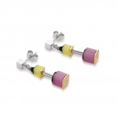COEUR DE LION Geo Cube Polaris Soft Rainbow Multicolour Earrings 4909/21-1520