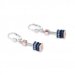 COEUR DE LION Geo Cube Elegant Dusky Blues Earrings 4928/20-0700