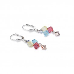 COEUR DE LION Multicolour Crystal & Rose Gold Earrings 4938/20-1522