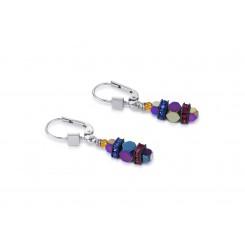 COEUR DE LION Swarovski Bevelled Haematite Multicolour Earrings 4940/20-1500