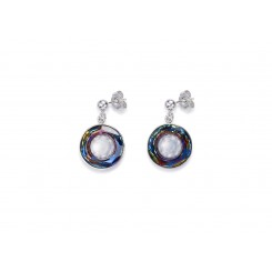 COEUR DE LION Swarovski Hand Worked Glass Pendant Iridescent Multicolour Earrings 4941/21-1522