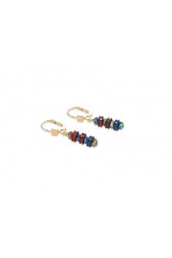 COEUR DE LION  Swarovski Multicolour & Gold Earrings 4974/20-1500