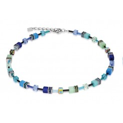 COEUR DE LION Geo Cube Bright Blue Necklace 2838/10-0705