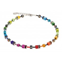 COEUR DE LION Geo Cube Rainbow Necklace 2838/10-1520