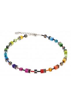 COEUR DE LION Geo Cube Rainbow Necklace 2838/10-1520