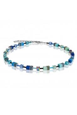 COEUR DE LION Geo Cube Bright Blue Necklace 2838/10-0705