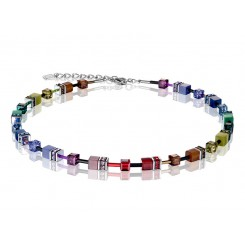 COEUR DE LION Geo Cube Soft Rainbow Necklace 2838/10-1570