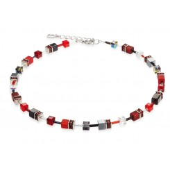 COEUR DE LION Geo Cube Red Necklace 4014/10-0312