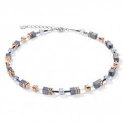 COEUR DE LION Haematite Rose Gold and Pale Blue Necklace 4015/10-0730
