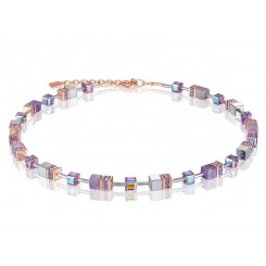 COEUR DE LION  Geo Cube Soft Purple Natural Amethyst Necklace 4017/10-0829