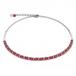 COEUR DE LION Swarovski Cut Glass Vibrant Red Necklace 4858/10-0300