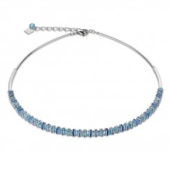 COEUR DE LION Swarovski Cut Glass Pale Blue Necklace 4858/10-0720