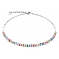 COEUR DE LION  Swarovski, Cut Glass Clear Rainbow Necklace 4858/10-1518