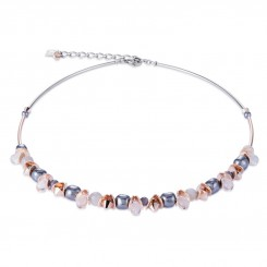 COEUR DE LION Swarovski Hematite Pearls Moonstone Necklace 4863/10-1200