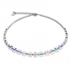 COEUR DE LION Swarovski Crystal Clear Rose Necklace 4883/10-1620
