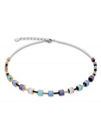 COEUR DE LION Geo Cube Polaris Soft Blue Turquoise Necklace 4909/10-0737