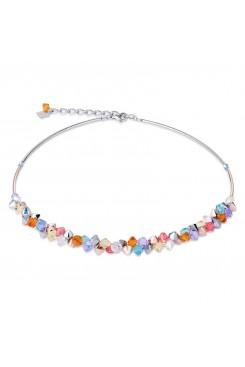 COEUR DE LION Multicolour Crystal & Rose Gold Necklace 4938/10-1522