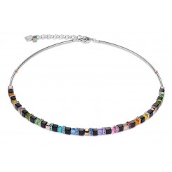 COEUR DE LION Geo Cube Fine Black Multicolour Necklace 4939/10-1500
