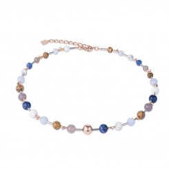 COEUR DE LION Natural Stones & Rose Gold Classic Necklace 4949/10-0711