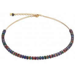 COEUR DE LION  Swarovski Multicolour & Gold Necklace 4974/10-1500