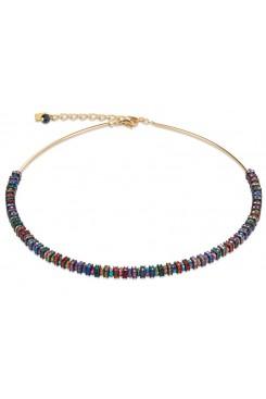 COEUR DE LION  Swarovski Multicolour & Gold Necklace 4974/10-1500