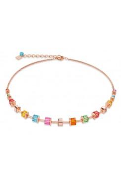 COEUR DE LION Geo Cube Luxurious Multicolour Necklace 4996/10-1500