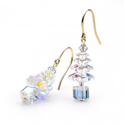 Auroa Borealis Swarovski Crystal Elements Christmas Tree Earrings