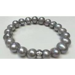 KAGI Silver Pearl Petite Bracelet