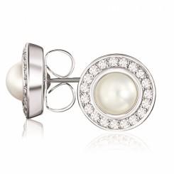 KAGI Pearl Orbit Stud Earrings