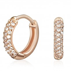 KAGI Rose Gold Luxe Huggies - Medium