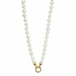 KAGI Gold Cream Pearl 49cm Necklace