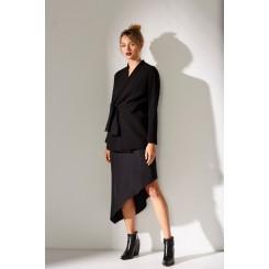 Mela Purdie Tie Side Jacket - Crepe Double Knit