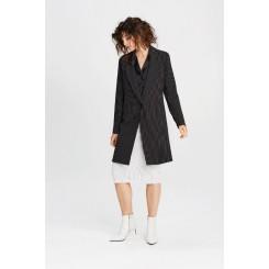 Mela Purdie Ascot Coat - Stripe Crepe Double Knit - Sale