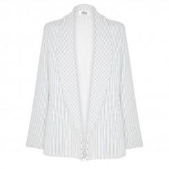 Mela Purdie Curve Blazer - Stripe Crepe Double Knit