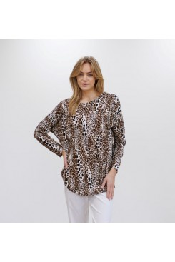 Mela Purdie Crest Sweater - Geo Animal
