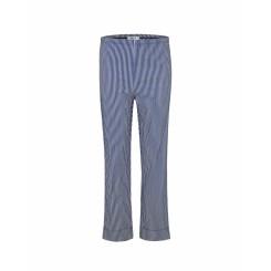 Mela Purdie Cropped Pant - Gabardine Stripe