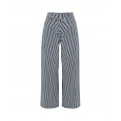 Mela Purdie Wide Leg Jean - Boiler Stripe Microprene