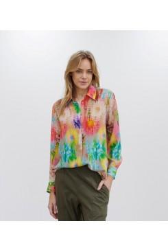 Mela Purdie Soft Shirt - Hot House Floral Silk