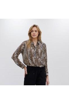 Mela Purdie Soft Shirt - Geo Animal Silk