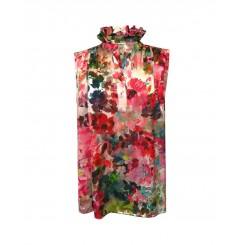 Mela Purdie Valentine Tank - Monet Floral Chiffon Satin - Sale