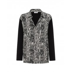 Mela Purdie Spliced Soft Shirt - Viper Print - Sale