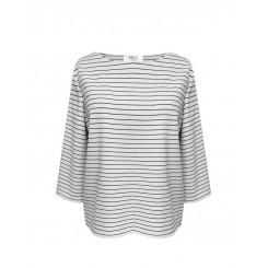 Mela Purdie Relaxed Boat Neck - Quay Stripe - Compact Knit