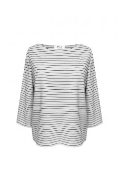 Mela Purdie Relaxed Boat Neck - Quay Stripe - Compact Knit - Sale