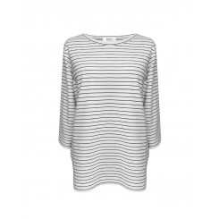 Mela Purdie Split Top - Quay Stripe - Compact Knit - Sale