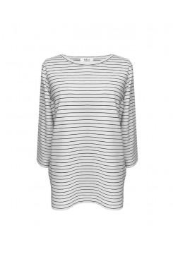 Mela Purdie Split Top - Quay Stripe - Compact Knit - Sale