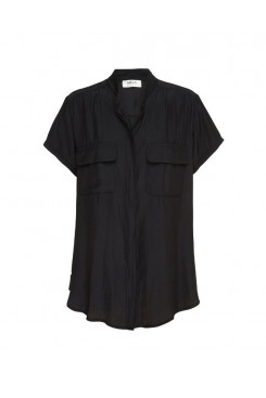 Mela Purdie Stand Collar Blouse - Macro-Mousseline - Sale