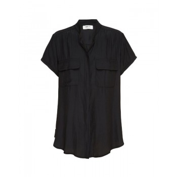 Mela Purdie Stand Collar Blouse - Macro-Mousseline