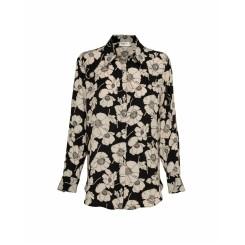 Mela Purdie Soft Shirt - Camellia Print Mousseline