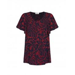 Mela Purdie Scroll Top - Scarlett Floral Print
