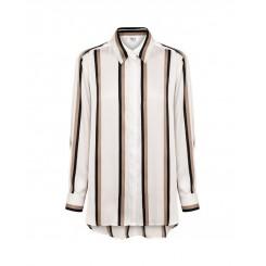 Mela Purdie Soft Shirt - Moulin Stripe Satin - Sale